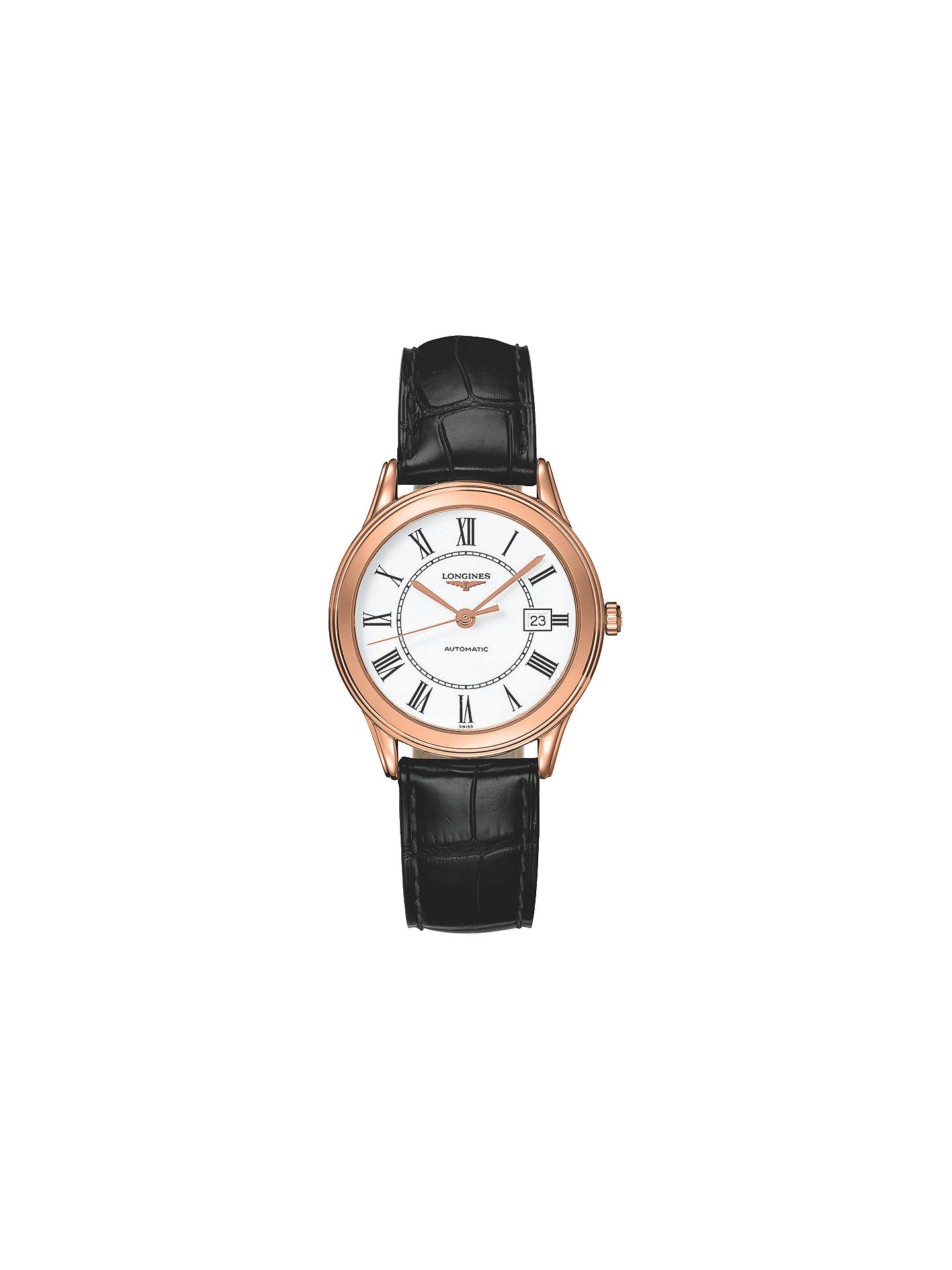 9c23e16f7b8c6 Buy Longines L47748212 Women s Flagship Automatic Date Alligator Leather  Strap Watch