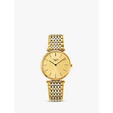 Buy Longines L47552327 Unisex La Grande Classique Two Tone Bracelet Strap Watch, Gold/Silver Online at johnlewis.com