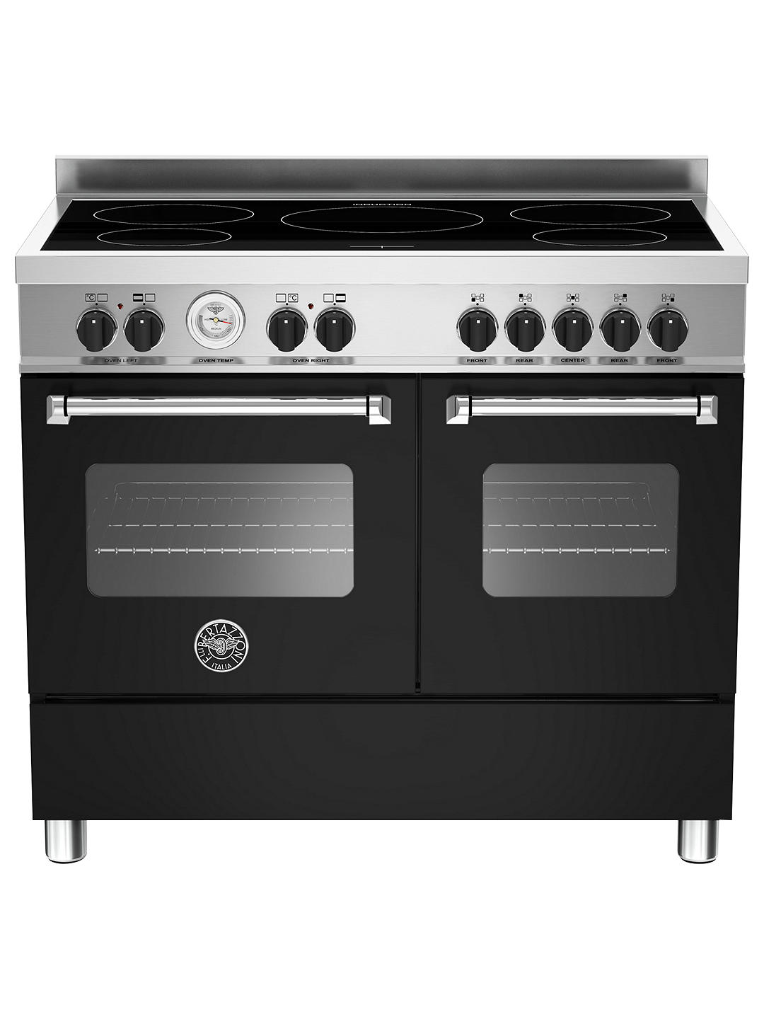Buy Bertazzoni Master Series 100cm Induction Range Cooker, Black Online at johnlewis.com