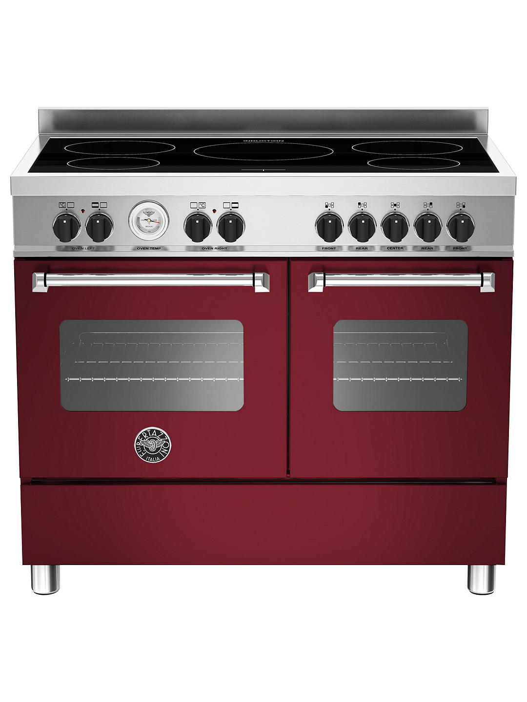 Buy Bertazzoni Master Series 100cm Induction Range Cooker, Burgundy Online at johnlewis.com
