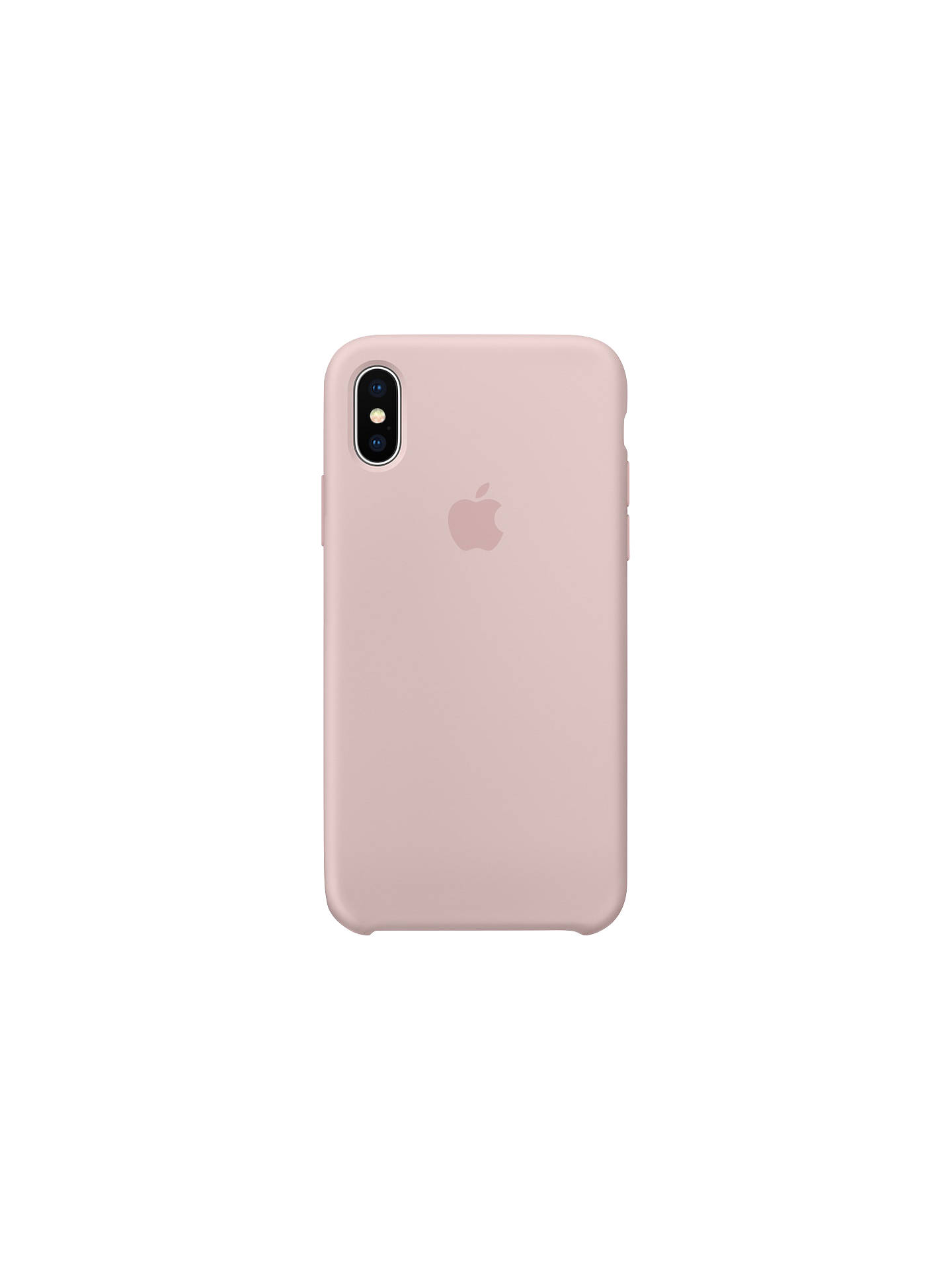 timeless design b44a0 8713e Apple Silicone Case for iPhone X, Pink Sand