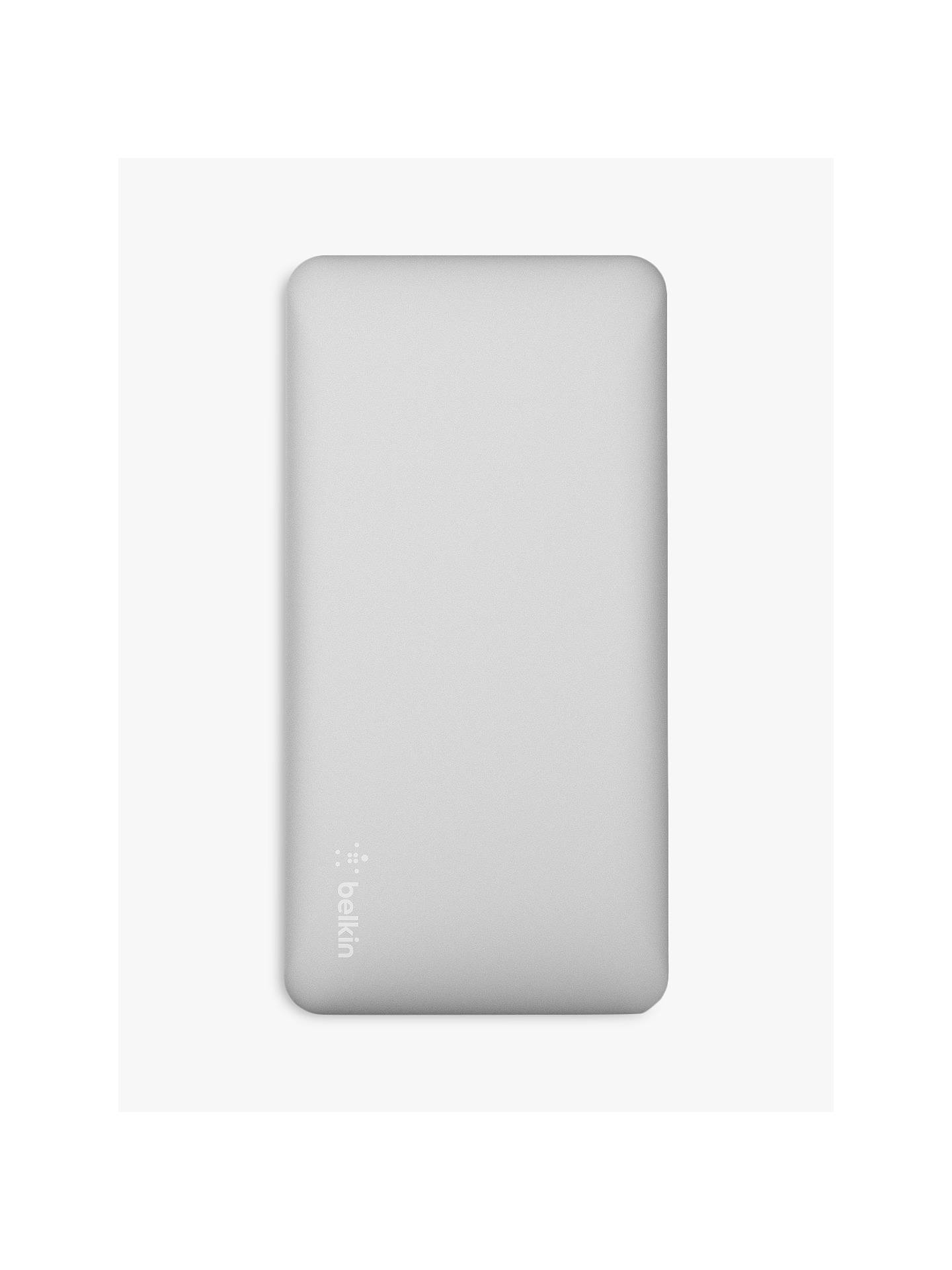 Belkin Pocket Power 10K Portable Power Bank Charger, Dual Port USB, Silver
