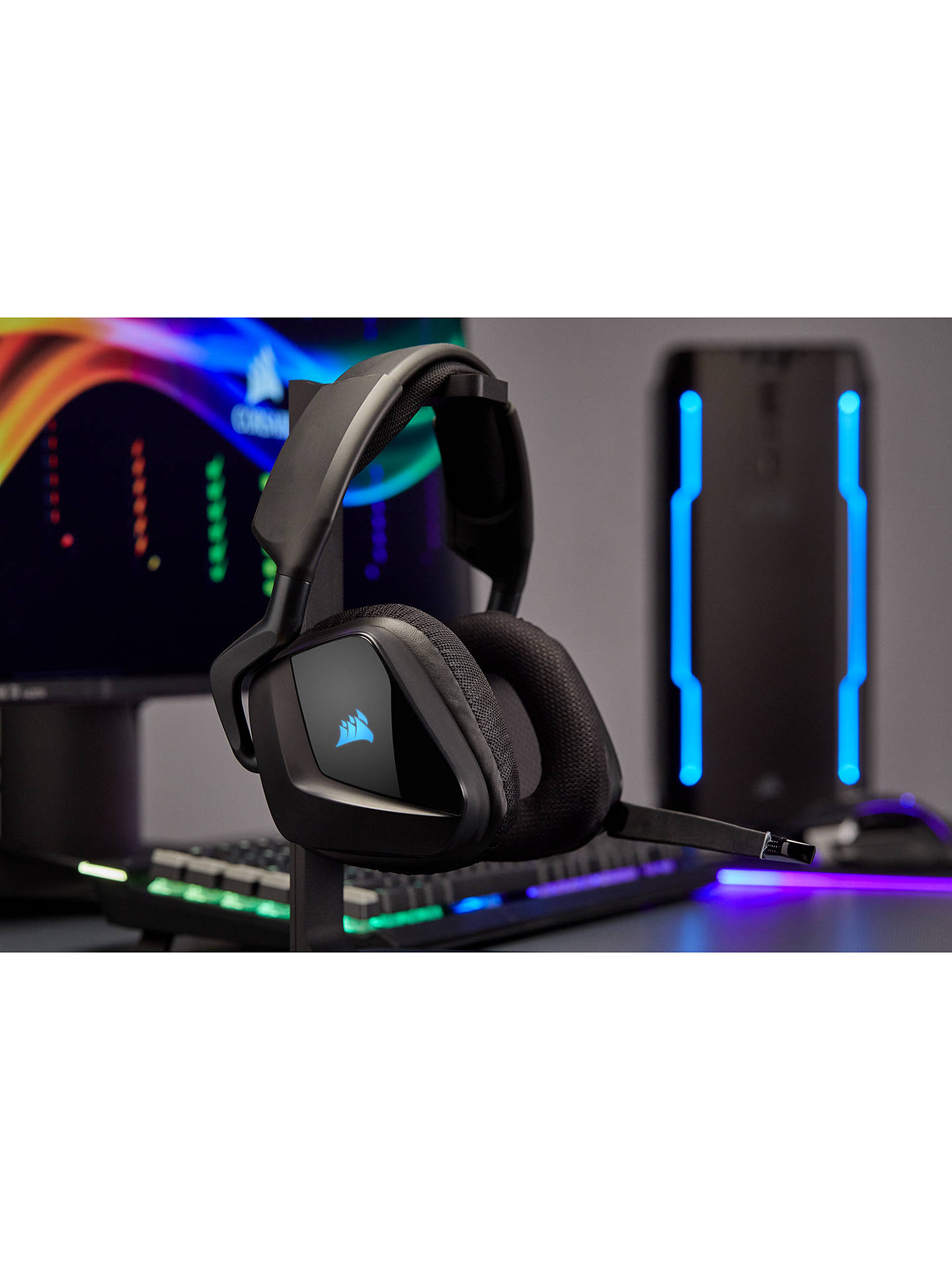 c5bf18c313c ... Buy Corsair Void Pro RGB Wireless Dolby 7.1 Surround Gaming Headset,  Carbon Online at johnlewis ...
