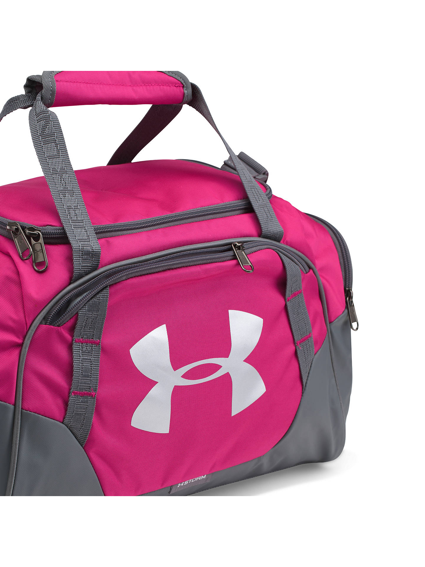 bab56df5fe1 ... Buy Under Armour Storm Undeniable 3.0 Extra Small Bag, Pink Online at  johnlewis.com ...