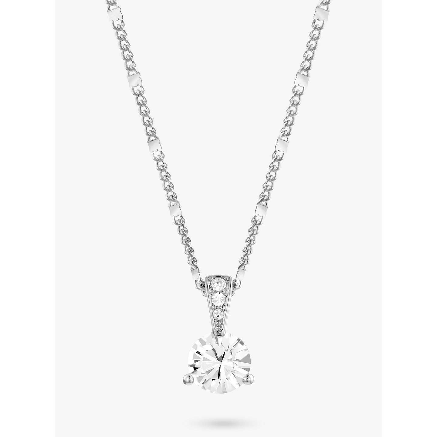 Swarovski solitaire round crystal pendant necklace silver at john lewis buyswarovski solitaire round crystal pendant necklace silver online at johnlewis mozeypictures Gallery