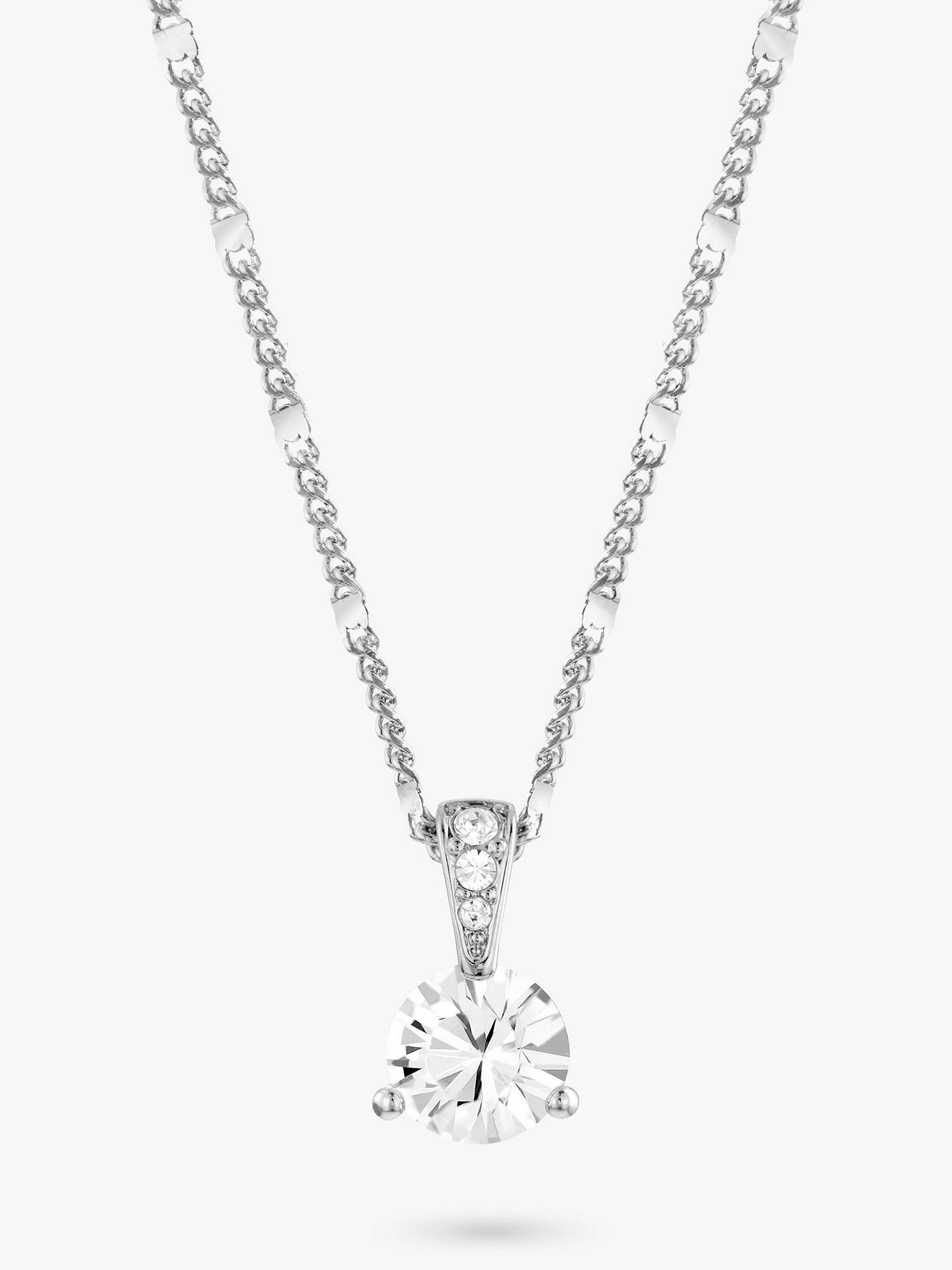 afb04b20829 Buy Swarovski Solitaire Round Crystal Pendant Necklace, Silver Online at  johnlewis.com ...
