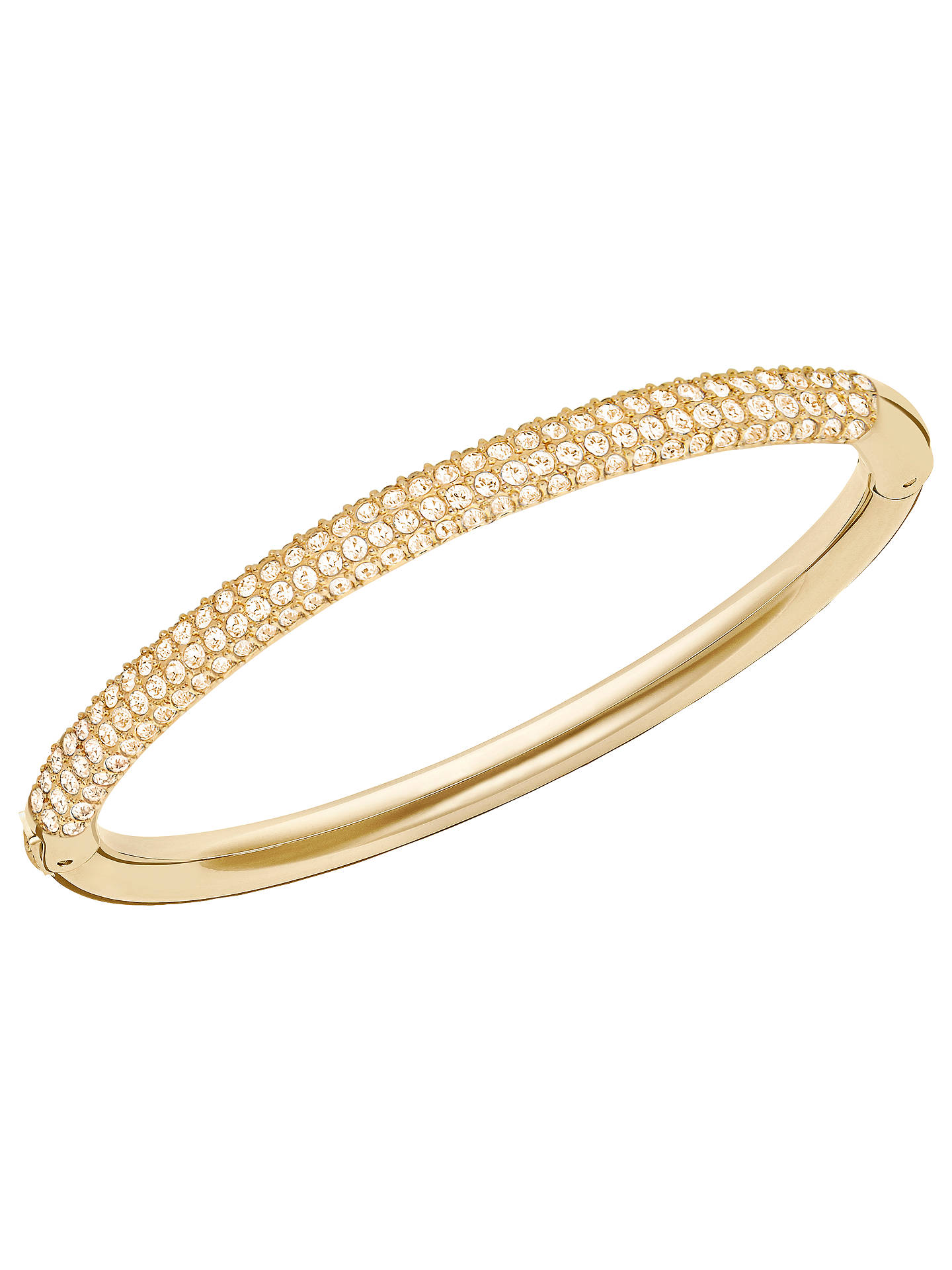 BuySwarovski Stone Mini Crystal Bangle, Gold Online at johnlewis.com