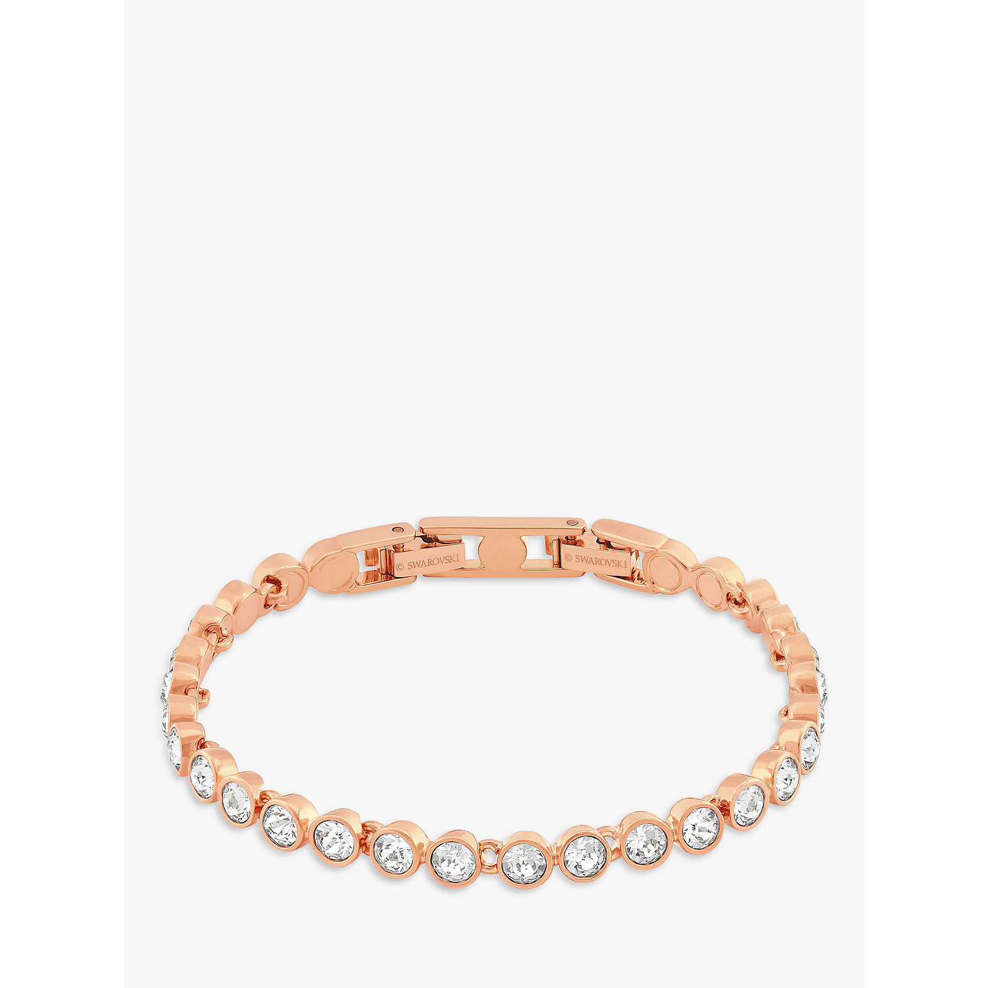 BuySwarovski Crystal Tennis Bracelet, Rose Gold Online At Johnlewis.com ...