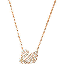 Buy Swarovski Swan Crystal Pendant Necklace Online at johnlewis.com