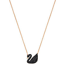 Buy Swarovski Icon Swan Crystal Pendant Necklace Online at johnlewis.com
