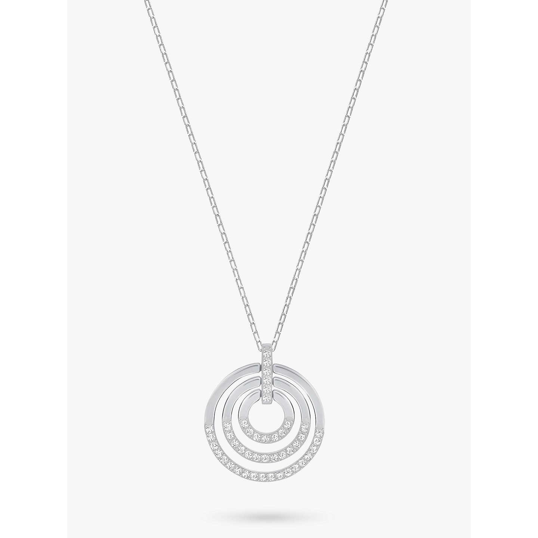 Swarovski circle medium crystal pendant necklace at john lewis buyswarovski circle medium crystal pendant necklace silver online at johnlewis mozeypictures Images