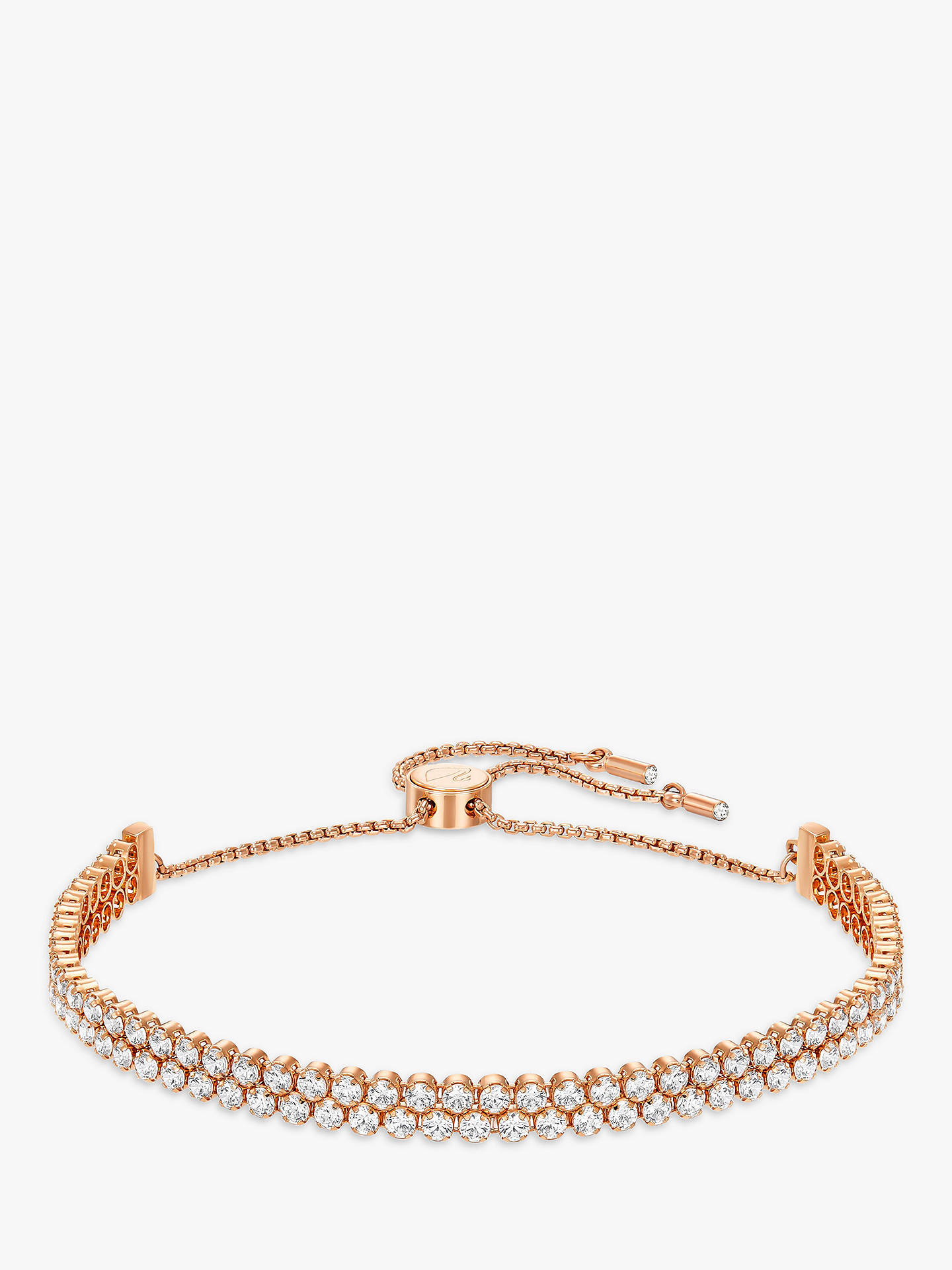 20d4113084f58 Swarovski Subtle Double Crystal Bracelet, Rose Gold