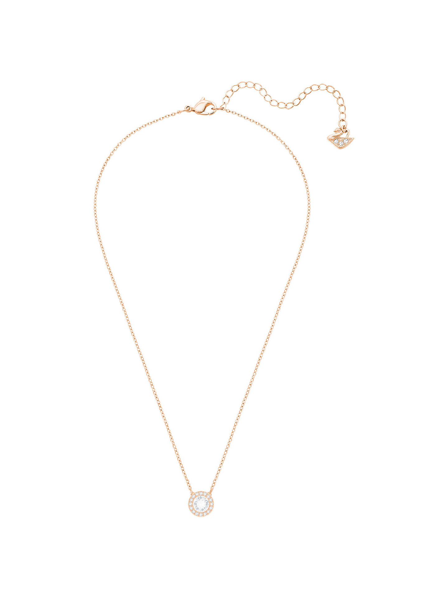 BuySwarovski Angelic Round Crystal Pendant Necklace, Rose Gold/Clear Online at johnlewis.com