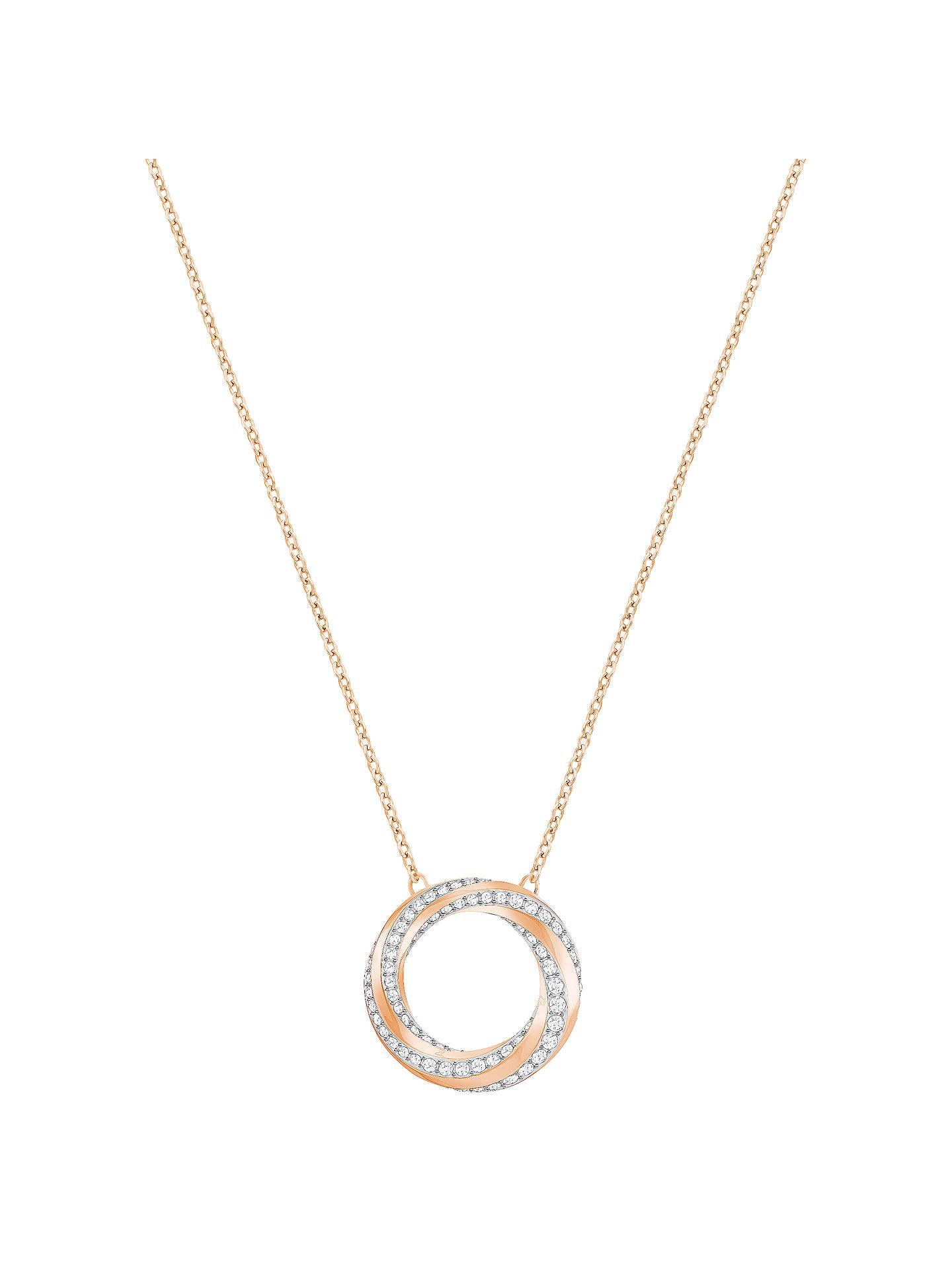 8c8bc19276e1f Swarovski Hilt Crystal Swirl Pendant Necklace at John Lewis & Partners