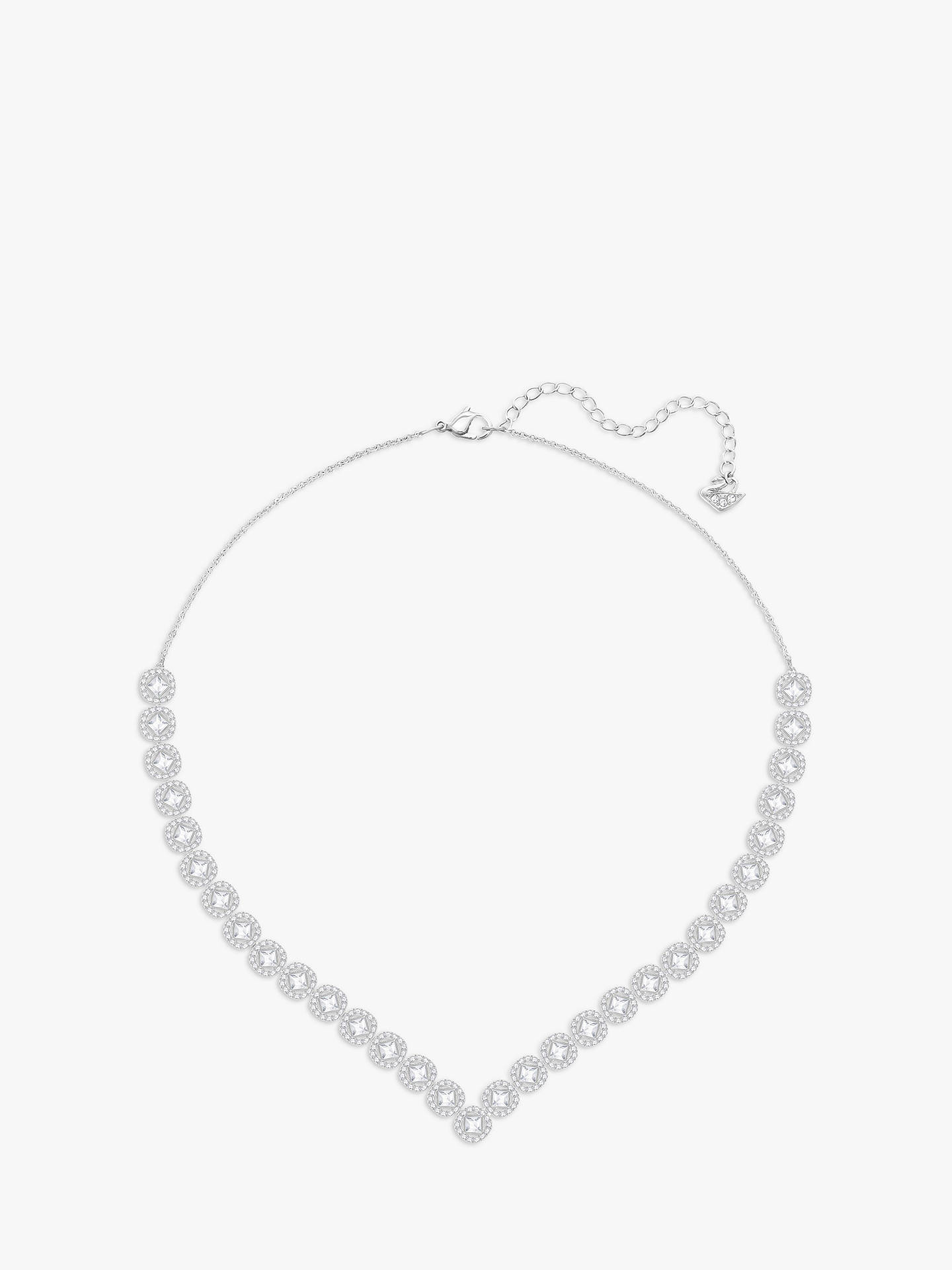 BuySwarovski Angelic Square Large Crystal Necklace, Silver Online at johnlewis.com