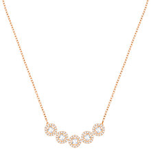 Buy Swarovski Angelic Square Crystal Necklace, Rose Gold Online at johnlewis.com