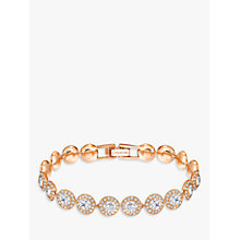 Buy Swarovski Angelic Round Crystal Bracelet, Rose Gold Online at johnlewis.com