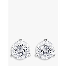 Buy Swarovski Solitaire Round Crystal Stud Earrings, Silver Online at johnlewis.com