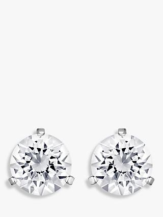 Swarovski Solitaire Round Crystal Stud Earrings, Silver
