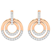 Buy Swarovski Circle Medium Crystal Drop Earrings Online at johnlewis.com