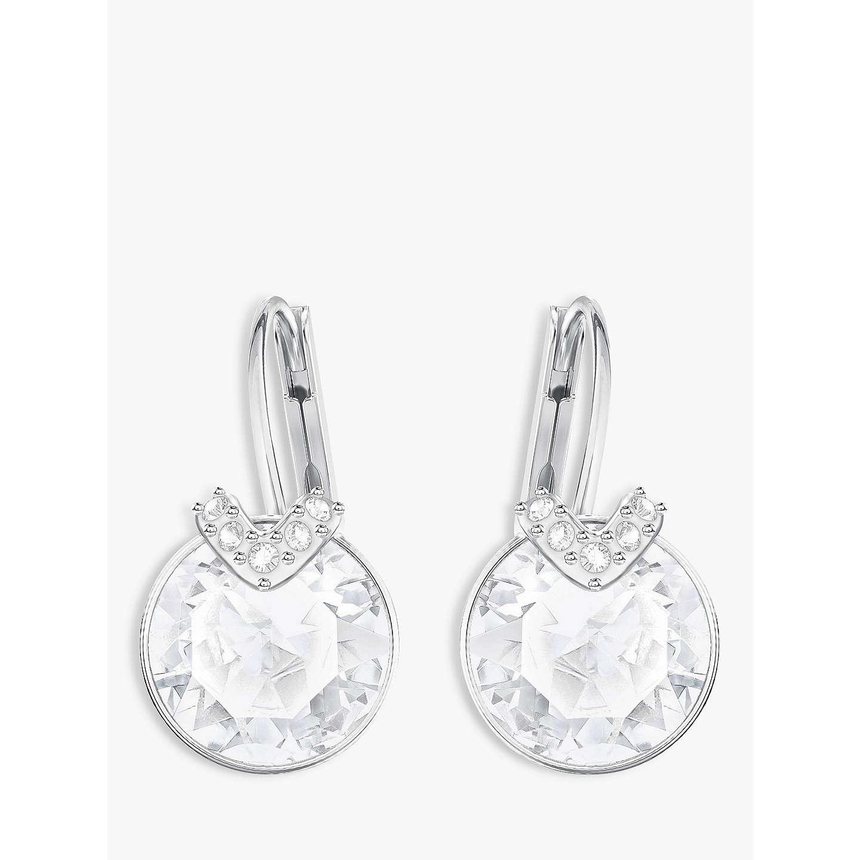 Swarovski Bella V Crystal Drop Earrings Silver Online At Johnlewis