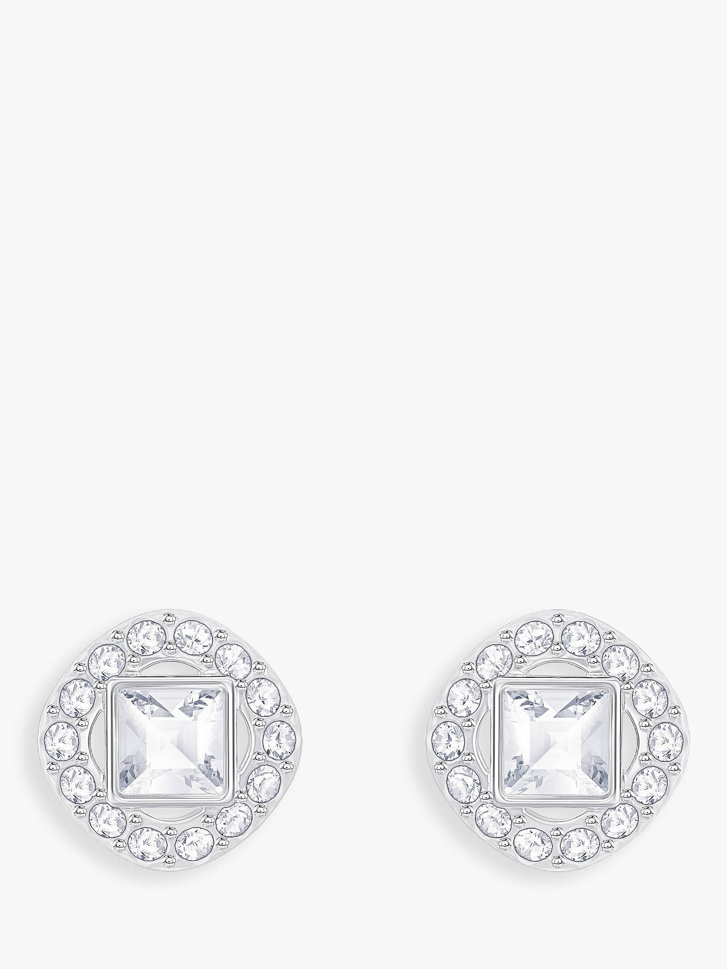 e9a45b874708d9 Swarovski Angelic Square Crystal Stud Earrings at John Lewis   Partners
