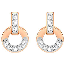 Buy Swarovski Circle Crystal Stud Earrings Online at johnlewis.com