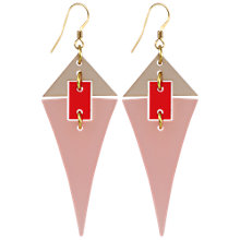 Buy Toolally Diamond Drops Earrings, Pink/Red Online at johnlewis.com