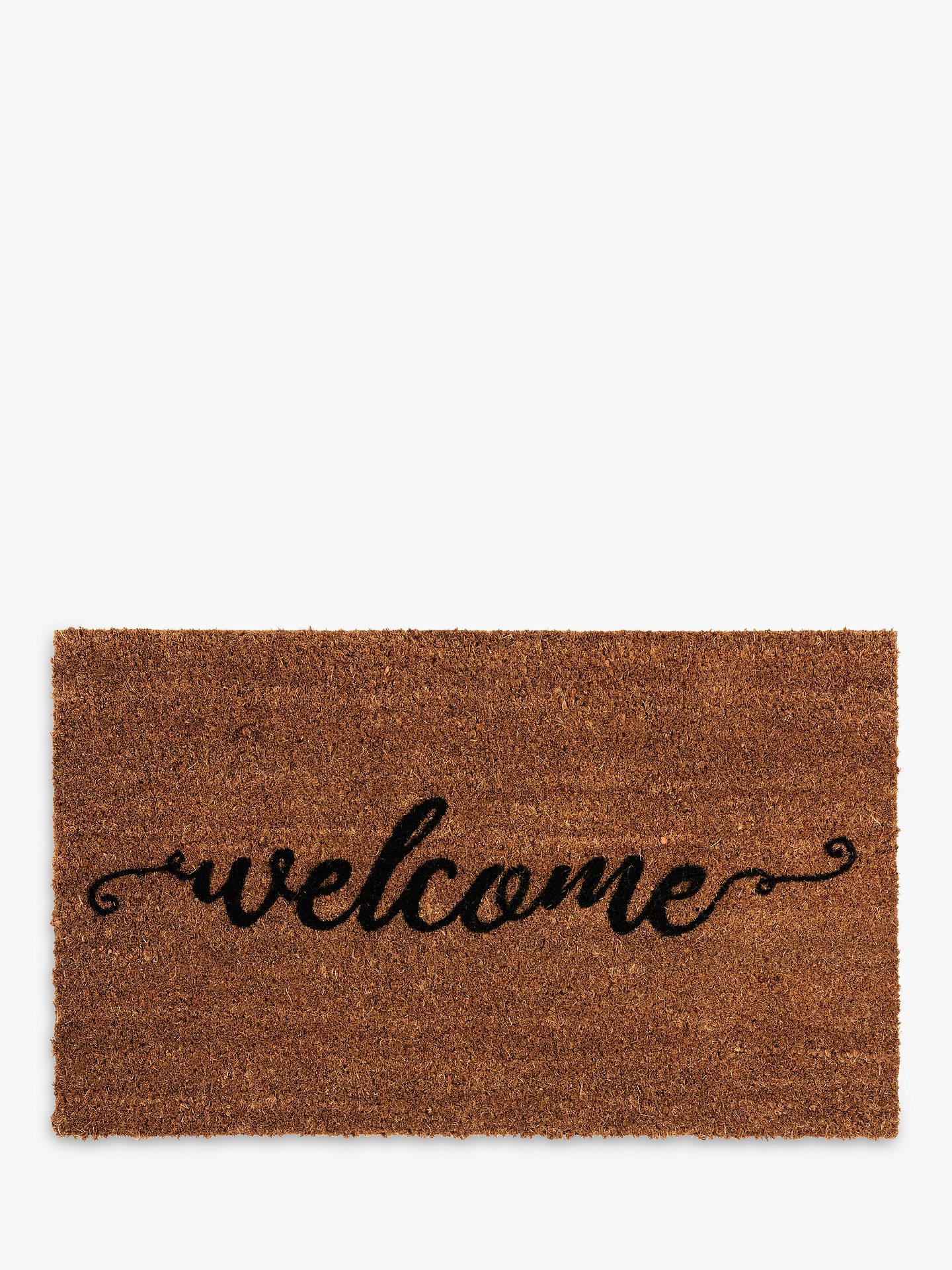 John Lewis & Partners Welcome Door Mat, Multi