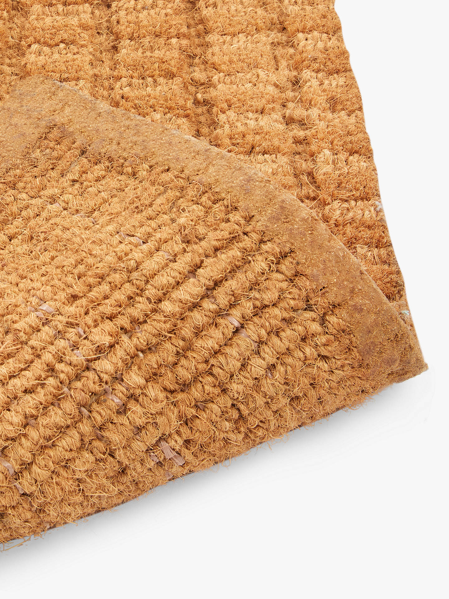 John Lewis Amp Partners Thick Knotted Coir Door Mat Natural