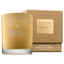 Buy Molton Brown Oudh Accord & Gold Single Wick Candle, 180g Online at johnlewis.com