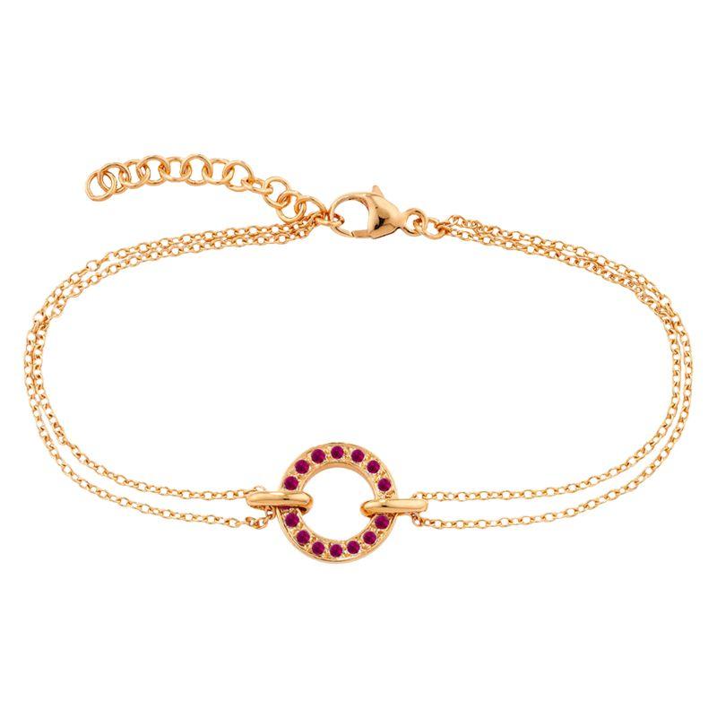 Ruby Wedding Gifts John Lewis: London Road 9ct Rose Gold Ruby Circle Charm Meridian