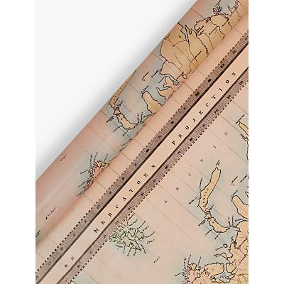 Image of John Lewis & Partners Maps Gift Wrap, 3m