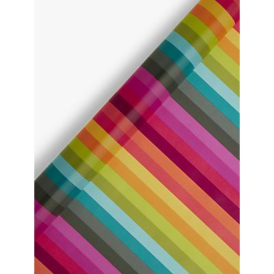 Image of John Lewis & Partners Multi Colour Stripe Gift Wrap, 3m