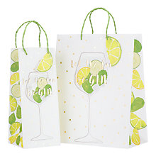 Buy John Lewis Just Add Gin Gift Bag Online at johnlewis.com