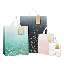 Buy John Lewis Gold Fleck Gift Bag Online at johnlewis.com
