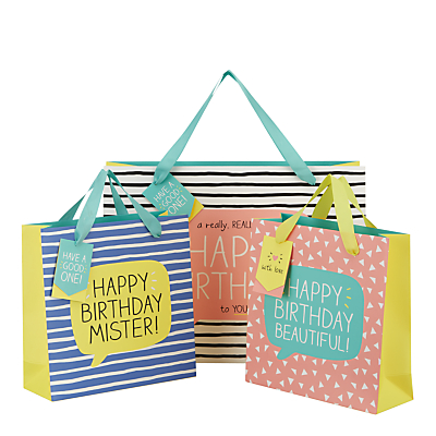 Product photo of Happy jackson really big happy birthday gift bag shopper