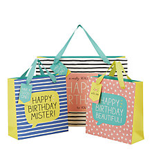 Buy Happy Jackson Happy Birthday Mister Gift Bag, Medium Online at johnlewis.com