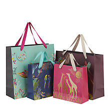 Buy Sara Miller Giraffes Medium Gift Bag, Pink Online at johnlewis.com