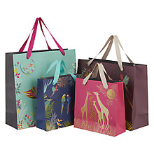 Buy Sara Miller Parrots Medium Gift Bag, Navy Online at johnlewis.com