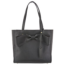 Buy Oasis Billie Bow Tote Bag, Black Online at johnlewis.com