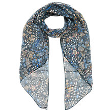 Buy Brora Liberty Silk Chiffon Scarf, Midnight Garden Online at johnlewis.com