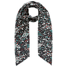 Buy Brora Liberty Silk Skinny Scarf, Auburn Carnival Online at johnlewis.com