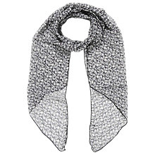 Buy Brora Liberty Silk Chiffon Scarf, Black Marble Online at johnlewis.com