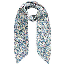 Buy Brora Liberty Silk Skinny Scarf, Haar Marble Online at johnlewis.com