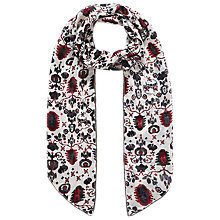 Buy Brora Silk Chiffon Beaded Scarf, Auburn Folk Online at johnlewis.com