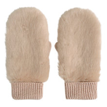 Buy Mint Velvet Faux Fur Mittens Online at johnlewis.com