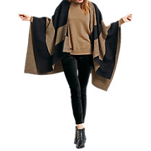 Buy hush Reversible Blanket Shawl, Black/Brown Online at johnlewis.com
