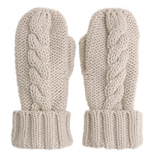 Buy Mint Velvet Cable Knit Mittens, Neutral Online at johnlewis.com