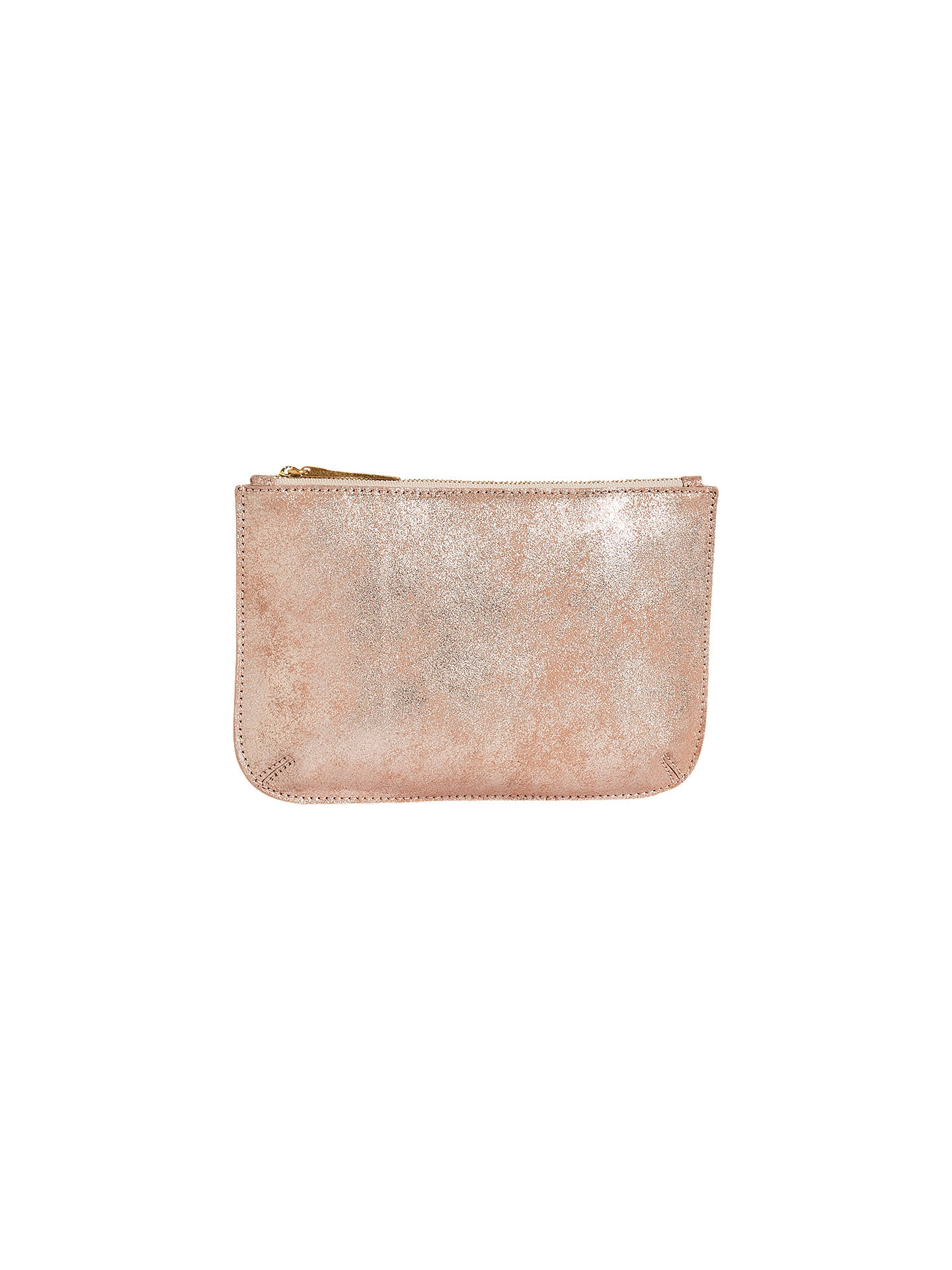 104239f82c6 Buy Jigsaw Alba Medium Textured Leather Pouch Clutch, Gold Online at  johnlewis.com ...